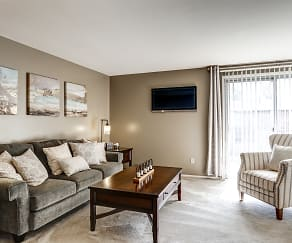 Living Room, Archer's Pointe Apartments of Fort Wayne