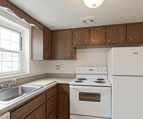 Kitchen, Monroe Village Apartments