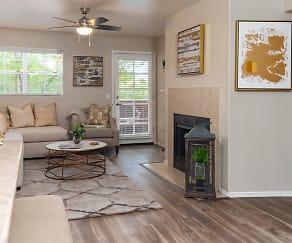 Living Room Wood like flooring, La Reserve Villas