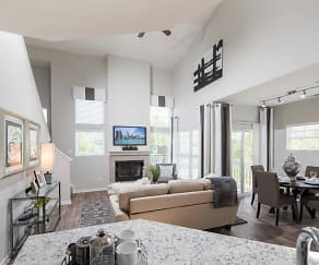 View of Living Room from Kitchen, Grand Reserve