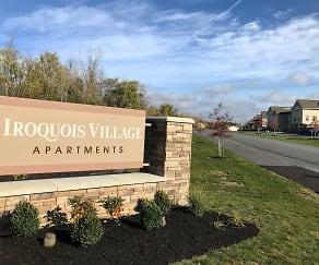 Community Signage, Iroquois Village Apartments