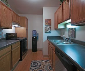 Kitchen, Mountain Village Apartments