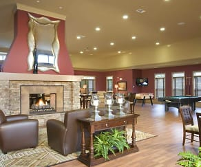 Inside the Resident Activity Center, Abberly Place at White Oak Crossing