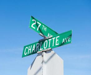 Community Signage, 2700 Charlotte Ave Apartments