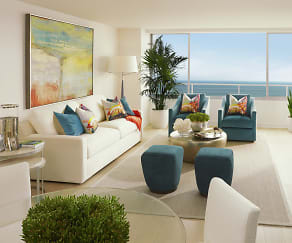 Living Room, 1221 Ocean Avenue