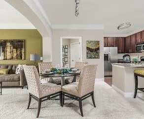 Open Dining, Living Room and Kitchen - Creekstone at RTP, Creekstone at RTP