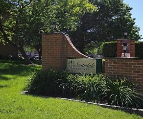 Community Signage, Scotsdale Apartments