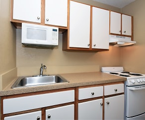 Kitchen, Furnished Studio - Charlotte - University Place - E. McCullough Dr.