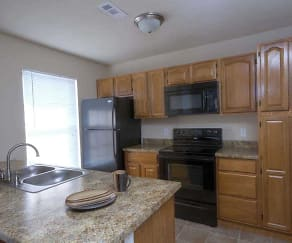 Kitchen, Lakewood Village Apartments