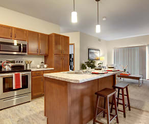 The Club at Heritage Kitchen with Stainless Steel appliances, The Club at Heritage Apartment Homes