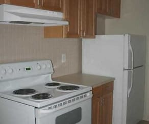 Kitchen, Amber's Broadacre Apartments