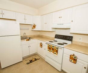 Kitchen, Regency Court and Spring Gardens Apartments