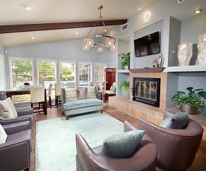 Clubhouse with Fireplace, Bentley Green Apartments