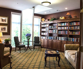 Brookfield Hills - Library in Pinnacle Building, The Club At Brookfield Hills