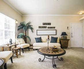 Living Room, Limestone Ranch At Vista Ridge