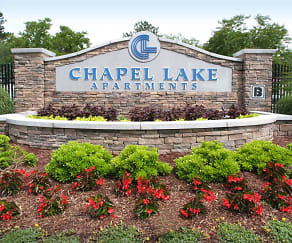 Sign, Chapel Lake Apartments