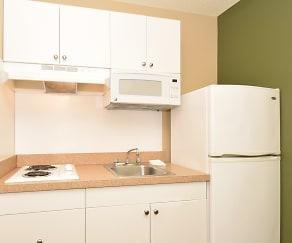 Kitchen, Furnished Studio - San Jose - Milpitas - McCarthy Ranch