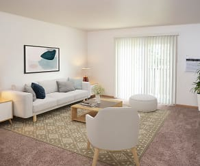 Living Room, Evergreen Apartments