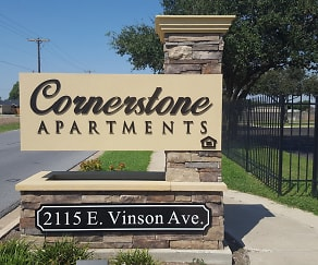 Community Signage, Cornerstone Apartments