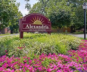 Community Signage, Alexandria Apartments