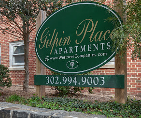 Community Signage, Gilpin Place Apartments