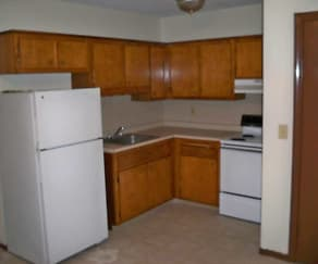 Kitchen, North Riverside Apartments