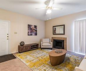 Living Room, Bellevue at Clear Creek