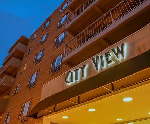 Community Signage, City View Apartments