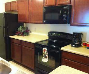 Kitchen, Crossroads Apartments