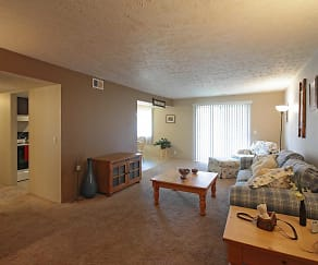 Living Room, Cottonwood Apartments