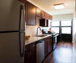 Kitchen, Belmont Tower Apartments