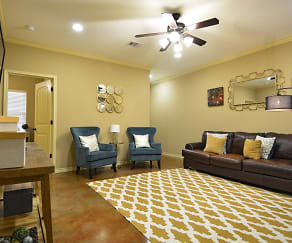 Living Room, The Barracks Townhomes