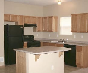 Kitchen, The Townhomes at Holly Ridge