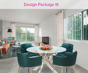 Design Package III Living and Dining Area, AVA Toluca Hills