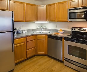 Kitchen, Greenfield Apartments