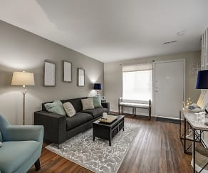 Living Room, Brookhill Townhouse Apartments