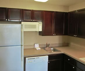 Kitchen, Furnished Studio - Orlando - Southpark - Commodity Circle