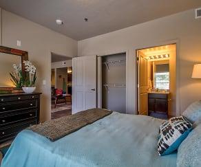 Bedroom, Riverfront Apartments
