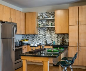 Kitchen, Pinnacle Apartments