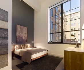 Bedroom, Parkway Lofts