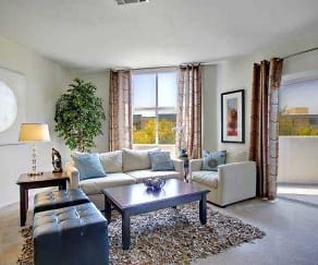 Living Room, CentrePointe Apartments