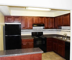 Kitchen, Weblin Place Apartments
