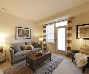 Living Room, Oakmont Village Apartments