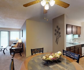 Dining Room, Ridge Oaks Apartments