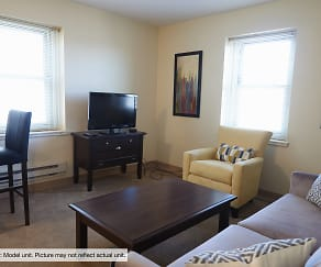 Living Room, Shoreland Manor Apartments