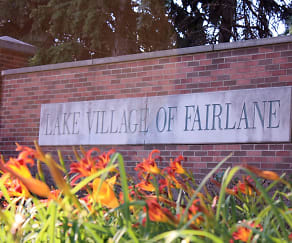 Community Signage, Lake Village Of Fairlane