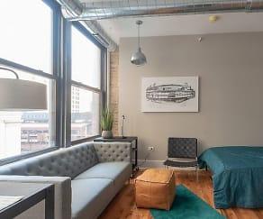 Living Room, 180 W. Adams