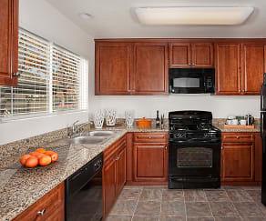 Kitchen, Del Mar Apartments