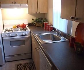 Kitchen, Sutterfield Apartments