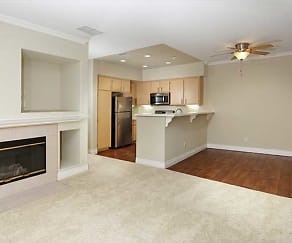 Two Bedroom (B1) Living/Dining Room, Avalon Mission Oaks